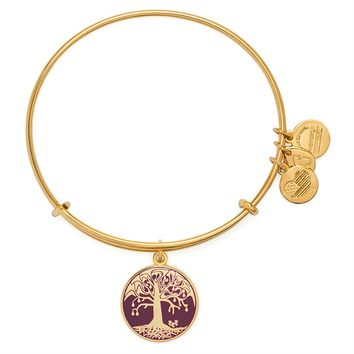 Cabernet Tree Of Life Charm Bangle