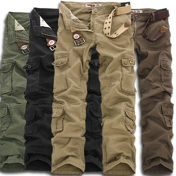 Fatigue Tactical Solid Military Army Combat Cargo Pants Trousers Casual = 1651269188