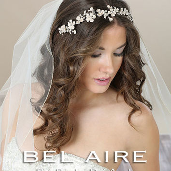 Bel Aire 6588 Softly Painted Flower Headband