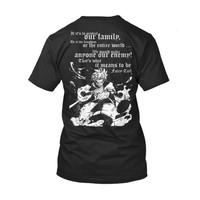 Fairy Tail - If its to protect our family Natsu -Men Short Sleeve T Shirt - SSID2016