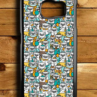 Pug Pattern Samsung Galaxy S6 Case