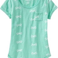 Girls Slub-Knit Scoop-Neck Tees