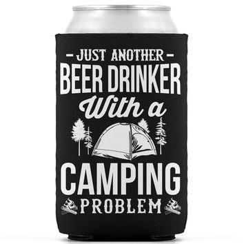 Beer and Camping Koozie