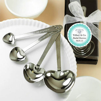 SOMETHING BLUE TIFFANY Heart Measuring Spoons favors - Audrey Hepburn
