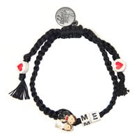 Venessa Arizaga Marry Me Bracelet - Black Beaded Bracelet - ShopBAZAAR