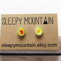 Avocado Earrings - Sleepy Mountain Studs