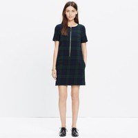 Dark Plaid Zip Dress
