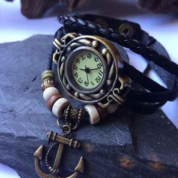 Ladies Watch Bracelet Leather Wrap fashion Watch