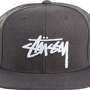 Stussy - Unisex-Adult Stock Snapback Hat, Size: O/S, Color: Charcoal Heather