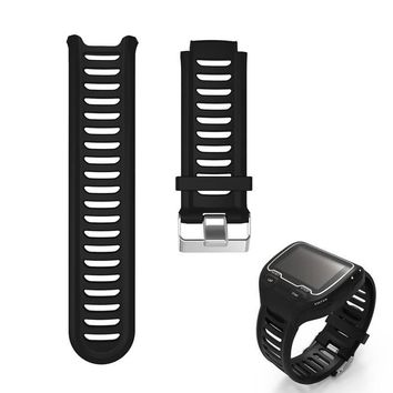 Silicone Watch Bands Strap for Garmin Forerunner 910XT GPS Triathlon Running Swim Cycle Training Sports Watch with Repain Tool