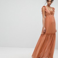 Tresophie Glitter Spot Maxi Dress at asos.com