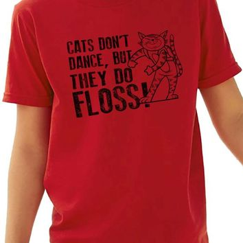 Floss Like a Boss Shirt Fortnite Boys Shirts Cats Don't Dance But They Do FLOSS! Kids for Youth Dance Flossing