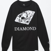 Diamond Supply Co Drawn Diamond Long Sleeve T-Shirt - Mens Tee