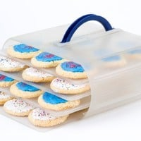 Food Storage Container with Adjustable Shelves