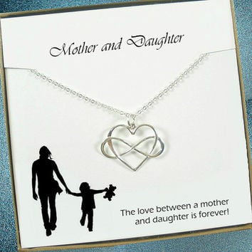 Mother Daughter Necklace, Mother Daughter Jewelry, Mother Daughter, Mom Daughter Necklace, Mom from Daughter, Daughter Necklace, Mom Gifts