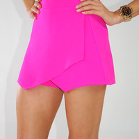 Brighten Up My World Shorts: Bright Fuschia | Hope's