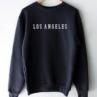 Los Angeles Oversized Sweater - Dark Heather Grey