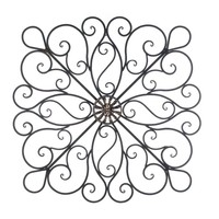 Impressive Metal Scrollwork Wall Decor Accent