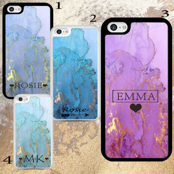 MARBLE GOLDEN INITIALS NAME PERSONALISED CUSTOM HARD CASE COVER FOR APPLE IPHONE | eBay