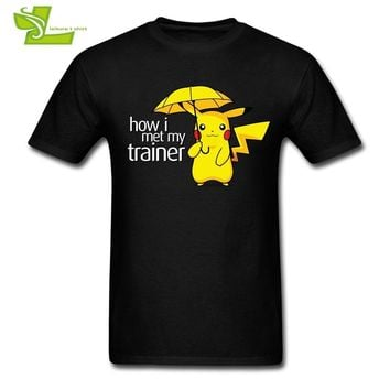 My Trainer  Pika T shirt Adult New Coming Simple Tee Shirts High Quality T-Shirts Men's Summer 100% Cotton Teenboys TopKawaii Pokemon go  AT_89_9