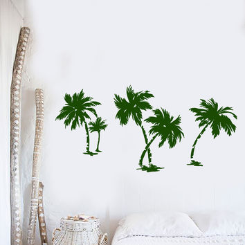 Vinyl Wall Decal Palms Nature Beach Style Nature Trees Stickers (1452ig)