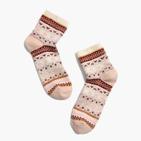 Fair Isle Trouser Socks : shopmadewell socks & tights | Madewell