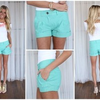 Prim and Proper Shorts Mint