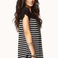 Cool-Girl Striped Dolman Top