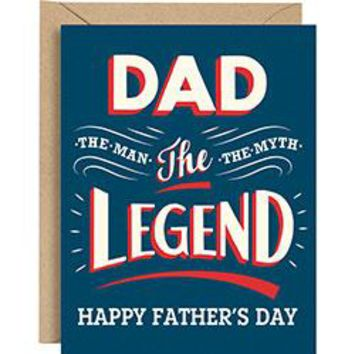 Dad the Legend Father's Day Card