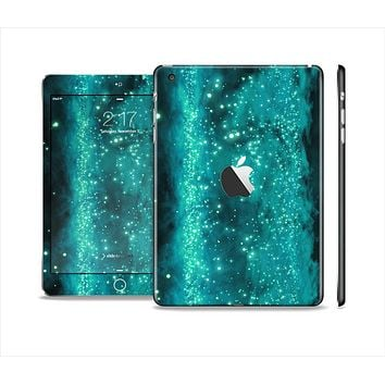 The Trendy Green Space Surface Full Body Skin Set for the Apple iPad Mini 2