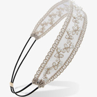 Pearlescent Embroidered Headwrap | FOREVER 21 - 1021992976