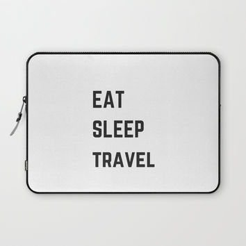 EAT SLEEP TRAVEL Laptop Sleeve by Love from Sophie