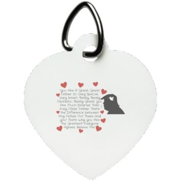 Funny Father's Day Gift For Dad From Wife, Daughter, Son, Stepdaughter, Stepson, Mom, Grandma, Mother In Law ((5)transp backgr UN5770 Heart Pet Tag))