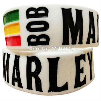 300pcs one inch Bob Marley silicone wristband rubber bracelets free shipping by DHL express