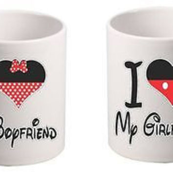 I Love My Boyfriend Girlfriend couples Mugs