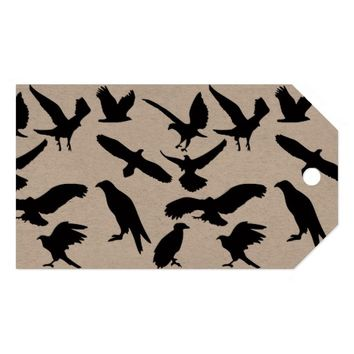 EAGLES (SILHOUETTE) Custom Gift Tags Pack Of Gift Tags