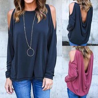 Loose Tops Long Sleeve Shirt Blouse