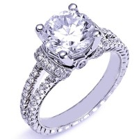 Engagement Ring  - ES1082BRWG
