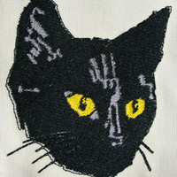 Large Black Cat Patch