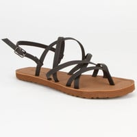 Billabong Caged Heart Womens Sandals Black  In Sizes