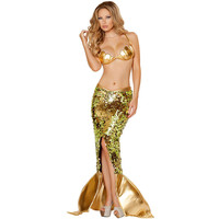 Mermaid Halloween costume for women sexy cosplay uniform roleplay