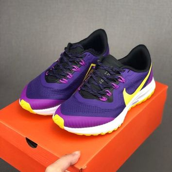HCXX 19June 1008 Nike Dual Fusion Structure 36 Flyknit Breathable Running Shoes purple