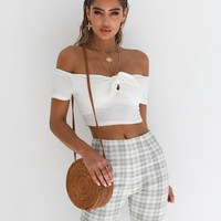 Buy Our All Night Crop in White Online Today! - Tiger Mist