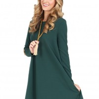That's On You Dress in Hunter | Monday Dress Boutique