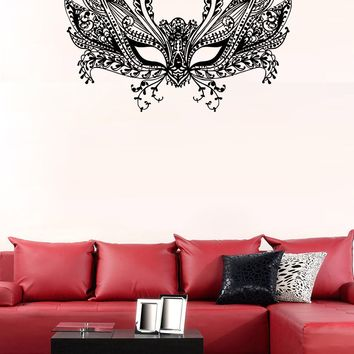 ik1140 Wall Decal Sticker Venetian mask Columbine carnival bedroom