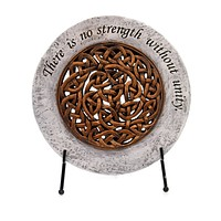 Home & Garden CELTIC KNOT BRONZE PLAQUE Polyresin Strength Without Unity 12999