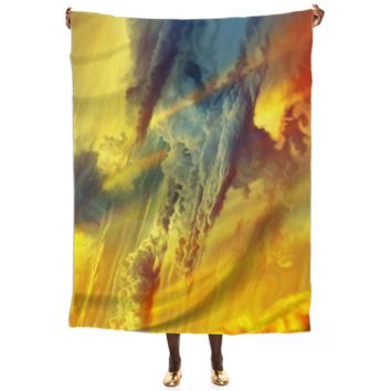Flight through another galaxy Silk Scarf