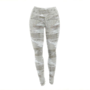 "CarolLynn Tice ""Effortless"" Neutral Gray Yoga Leggings"
