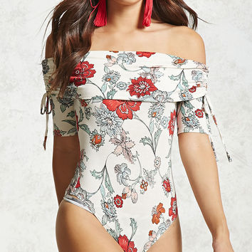 Contemporary Floral Bodysuit