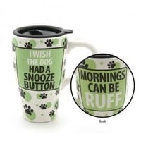 Dog Snooze Button Travel Mug